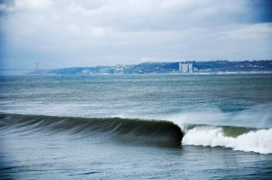 Santo Amaro, just off Lisbon, is an occasional winter break, boasting critical tube rides over a shallow 40 cm layer of water