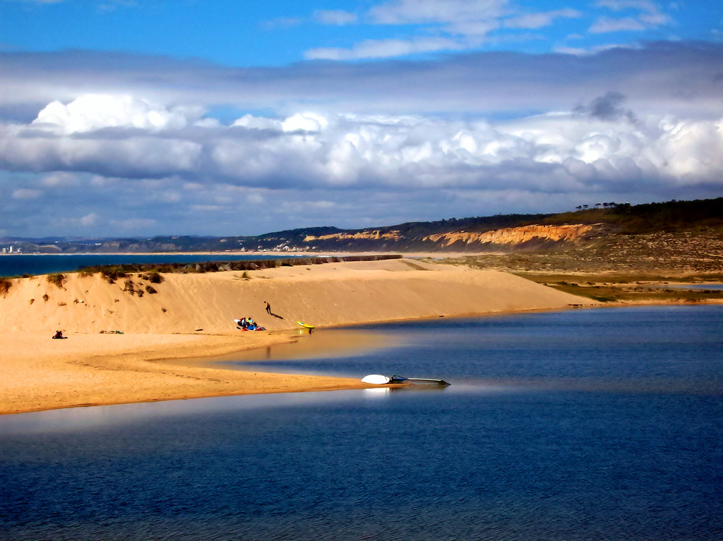 Nearby Lagoa de Albufeira is both surfers and windsurfers heaven