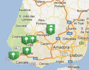 Estoril Coast 10 minute range diagram