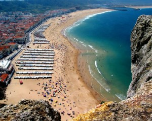 Nazare from its sanctuary